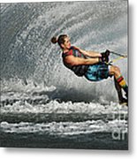 Water Skiing Magic Of Water 23 Metal Print