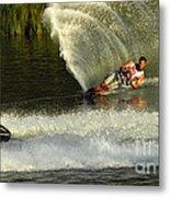Water Skiing Magic Of Water 33 Metal Print
