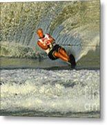 Water Skiing Magic Of Water 4 Metal Print by Bob Christopher