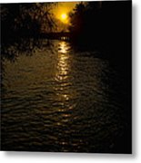 Water-sunset Metal Print