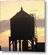 Water Tower At Sunset Metal Print