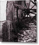 Water Wheel Old Mill Cherokee North Carolina  Metal Print by Susanne Van Hulst