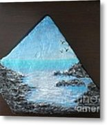 Water With Rocks Metal Print