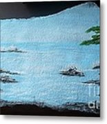 Water With Tree Metal Print
