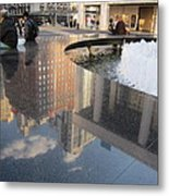 Lincoln Center Reflections Metal Print