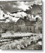 Watercolor In Black And White Metal Print