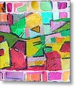 Watercolor Jazz Metal Print