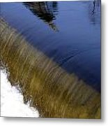 Waterfall And Reflections Metal Print