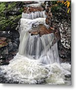 Waterfall At Ricketts Glen Metal Print