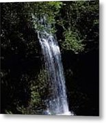 Waterfall In A Forest, Glencar Metal Print