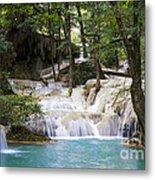 Waterfall In Deep Forest Metal Print by Setsiri Silapasuwanchai