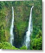 waterfall in Laos Metal Print