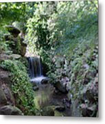Waterfall In Prospect Park Metal Print
