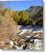 Waterfall In The Desert Metal Print