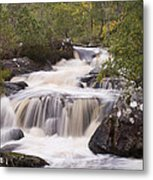 Waterfall In The Highlands Metal Print