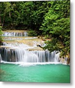 Waterfall In Tropical Forest Metal Print