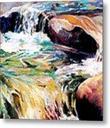 Waterfall Maui Metal Print