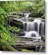 Waterfall Near Mabbitt Spring Metal Print
