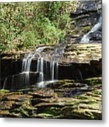 Waterfall Over Rocks Metal Print