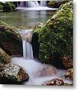 Waterfall, Peter Lougheed Provincial Metal Print