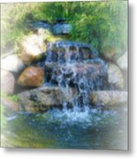Waterfall Metal Print by Rebecca Frank