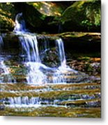 Waterfall Trio At Mcconnells Mill State Park Metal Print