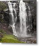 Waterfalls Over A Cliff Norway Metal Print