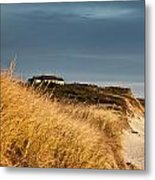 Waterfront Beach Cottage Metal Print