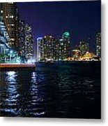 Waterfront By Night Metal Print