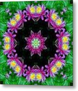 Waterlily Kaleidoscope Metal Print
