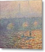 Waterloo Bridge Metal Print by Claude Monet