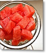 Watermelon Parfait 2 Metal Print
