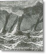Waterspouts Metal Print