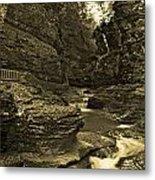Watkins Glen In Orotone Metal Print