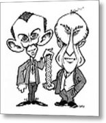 Watson And Crick, Dna Discovers Metal Print by Gary Brown