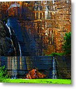 Watson Lake Waterfall Metal Print