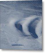 Wave Clouds Near Ile Aux Cochons Metal Print