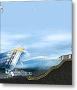 Wave Energy Converter, Artwork Metal Print by Claus Lunau
