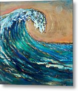 Wave To The South Metal Print