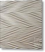 Waves And Stripes Background Metal Print