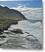 Waves At Kaena State Park 7847 Metal Print