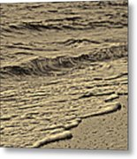 Waves At The Beach Metal Print