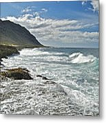 Waves Breaking On Shore 7876 Metal Print