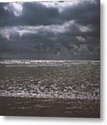 Waves On Beach Metal Print