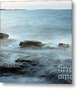 Waves On The Coast Metal Print