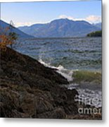 Waves On The Shore Metal Print