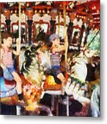 Waving Hi From The Merry-go-round Metal Print
