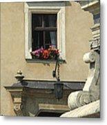 Wawel Flower Box And Achitecture Metal Print