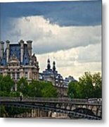 Weather In Paris Metal Print
