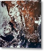 Weather Patterns Over Earth Metal Print